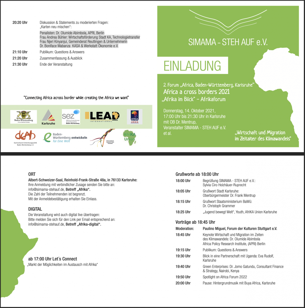 Africa across borders flyer
